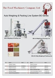 Auto Weighing & Packing Line System BO Series
