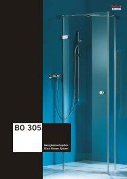 Ganzglasduschsystem BO 305 Glass Shower System ... - gral Systeme