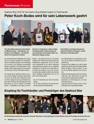 Peter Koch-Bodes wird für sein Lebenswerk geehrt