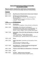 Seminar TGT® Bodenschule und Reiten an feinen Hilfen am 2. Juni ...
