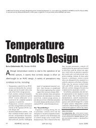 Temperature Controls Design - ashrae