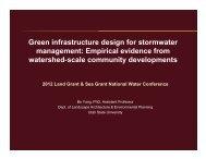 Green infrastructure design for stormwater management: Empirical ...