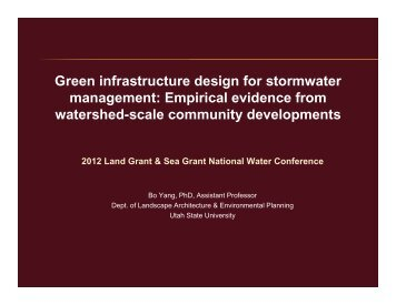 Green infrastructure design for stormwater management: Empirical ...