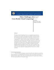 Policy Challenges of Cross-Border Cloud Computing - United States ...