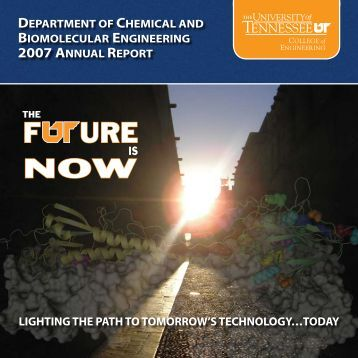 CBE 2007 Annual Report - College of Engineering - The University ...