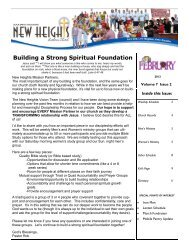 February 2012 NHLC Newsletter - New Heights Lutheran Church