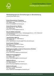 Waldpädagogische Einrichtungen in Brandenburg - FSC