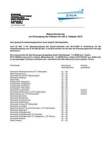 Sita Entsorgung Erzgebirge GmbH