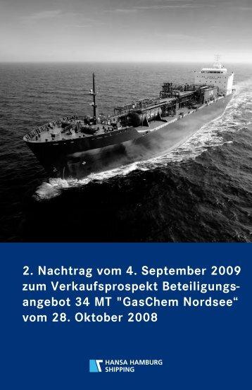 """angebot 34 MT """"GasChem Nordsee"""" vom 28. Oktober 2008 - Hansa ..."""