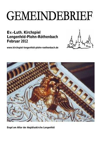 Gemeindebrief Februar 2012 - Kirchspiel Lengenfeld Plohn ...