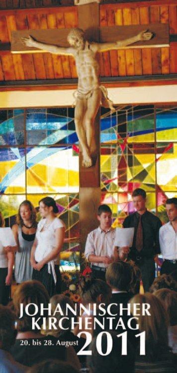 Programmheft zum Kirchentag 2011 - Johannische Kirche