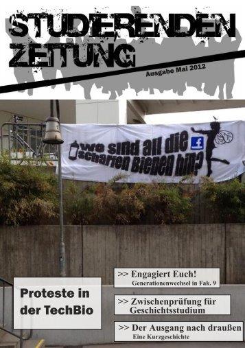Proteste in der TechBio - Studierendenzeitung der Uni Stuttgart