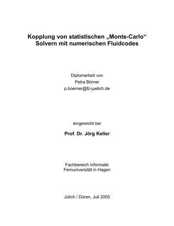 """Kopplung von statistischen """"Monte-Carlo"""" Solvern mit ... - eirene"""