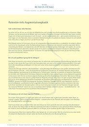 Patienten-Info zur Brustvergrößerung (Augmentationsplastik) (PDF)