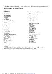 Spielklasseneinteilung - BFV - Kronach