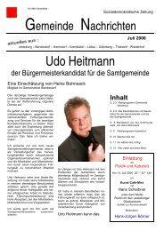 Udo Heitmann - SPD Jesteburg