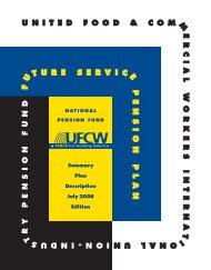 Summary Plan Description July 2008 Edition - UFCW International ...