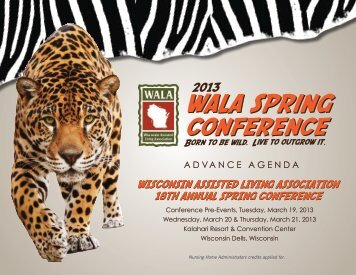 View Advance Agenda - WALA, Wisconsin Assisted Living Association