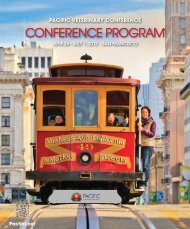 CONFERENCE PROGRam - Pacific Veterinary Conference