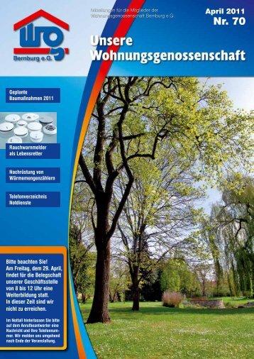 Nr. 70 - Wohnungsgenossenschaft Bernburg eG