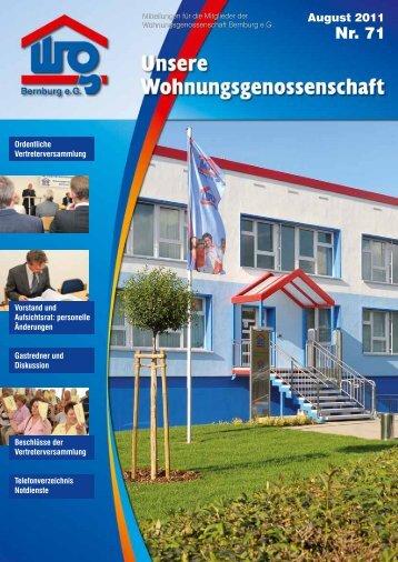 Ordentliche Vertreterversammlung - Wohnungsgenossenschaft ...