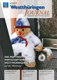 2011 Mitglieder- und Kundenmagazin - VR Bank Westthüringen eG