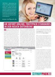 ab sofort online: treffpack standards in der neuen datenbank