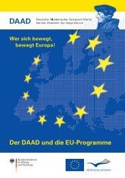 Der DAAD und die EU-Programme