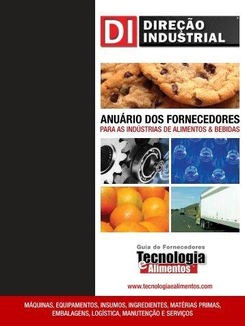 anuário dos fornecedores - Tecnologia e Alimentos