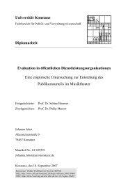 Evaluation in öffentlichen Dienstleistungsorganisationen - KOPS ...