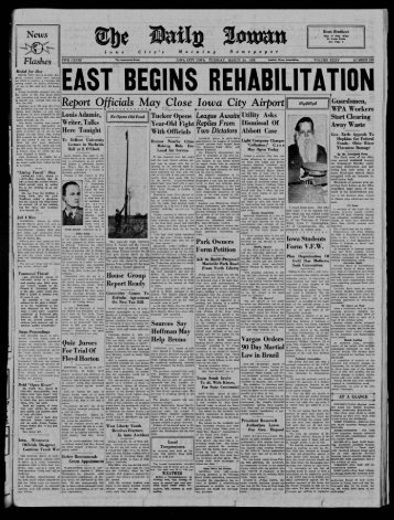 March 24 - The Daily Iowan Historic Newspapers - University of Iowa