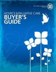 BUYER'S GUIDE - National Hospice and Palliative Care Organization