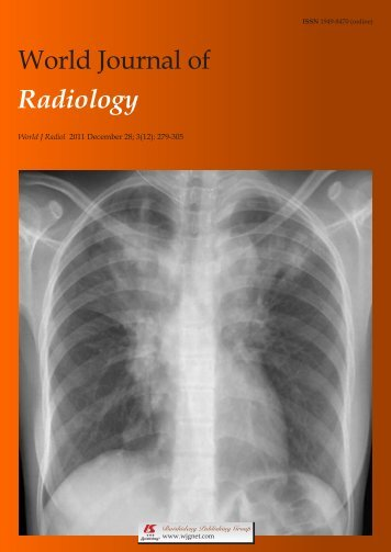 World Journal of Radiology (World J Radiol