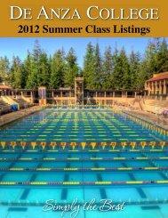 Summer 2012 Class Listing - De Anza College
