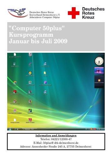 """Computer 50plus"" Kursprogramm Januar bis ... - DRK Delmenhorst"