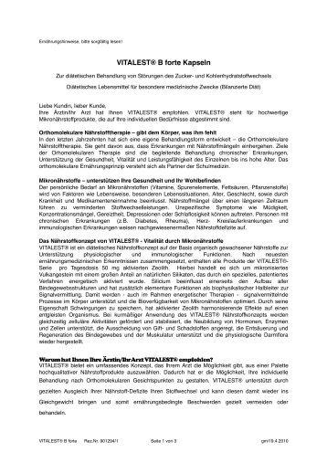 Beipackzettel als PDF - La Vie