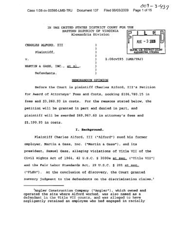 00'1- 3-'137 - Virginia Lawyers Weekly