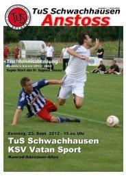 Download ANSTOSS September 2012 - beim TuS Schwachhausen