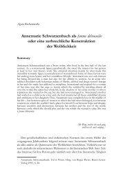 Annemarie Schwarzenbach als femme débousolée oder eine ...