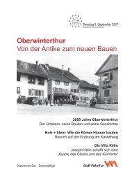 Zeitung Tag des Denkmals 2007 - Departement Bau - Winterthur