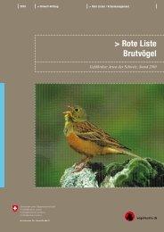 Rote Liste Brutvögel - Schweizer Informationssystem Biodiversität ...