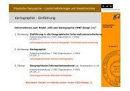 Amtliche Kartenwerke (D) - Lehrstuhl für Physische Geographie ...