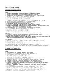 La Classifica 2007 - Osservatorio Nazionale sulla salute della Donna