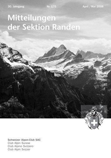 Mitteilungen - SAC Sektion Randen