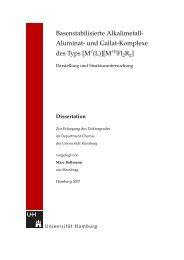 und Gallat-Komplexe - Chemie - Universität Hamburg