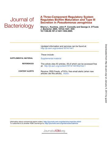 Pseudomonas aeruginosa - Journal of Bacteriology - American ...