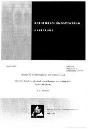 April 1969 Institut für Neutronenphysik und Reaktortechnik KFK 966 ...