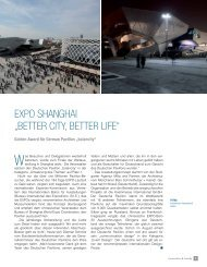 Expo Shanghai - Netzwerk Architekturexport NAX