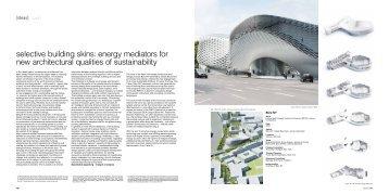 selective building skins: energy mediators for new ... - Büro NY