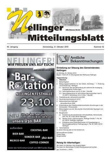 Anzeigenwerbung - Gemeinde Nellingen